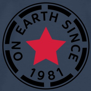 on earth since 1981 (sv) Toppar - Premium-T-shirt herr