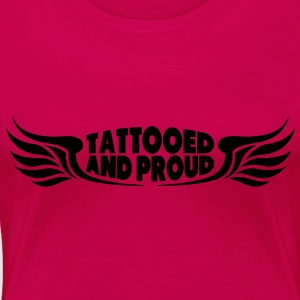 Tattooed and Proud - Wings Tops - Frauen Premium T-Shirt