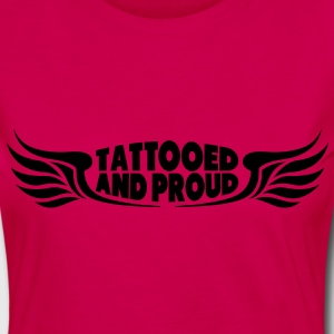 Tattooed and Proud - Wings Tops - Frauen Premium Langarmshirt