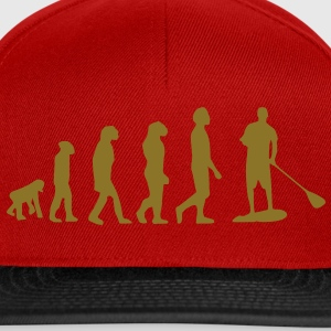 Evolution, Sup, standing paddling, surfing, surfing Supen, Stand up paddle surfing T-shirts - Snapback Cap