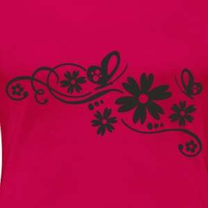 flower tribal tattoo - Women's Premium T-Shirt