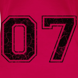 Number 07 in the grunge look Tops - Women's Premium T-Shirt