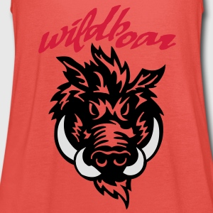 wildboar__face_on_light T-Shirts - Women's Tank Top by Bella