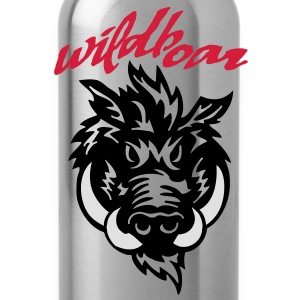 wildboar__face_on_light T-Shirts - Water Bottle