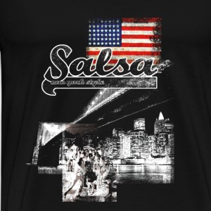 salsa your live  - Premium T-skjorte for menn