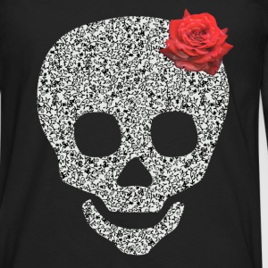 skull and rose Tops - Men's Premium Longsleeve Shirt