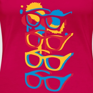 Four colorful sunglasses in graffiti style Tops - Women's Premium T-Shirt