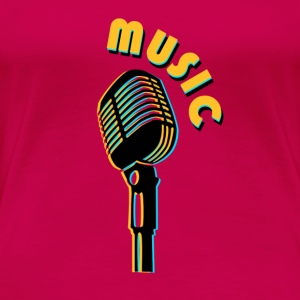 vintage microphone love music Tops - Women's Premium T-Shirt