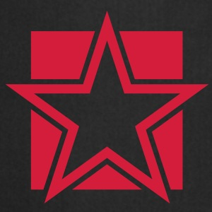FUNKY red STAR outlined on a Square Tops - Cooking Apron
