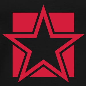 FUNKY red STAR outlined on a Square Tops - Men's Premium T-Shirt