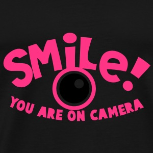 SMILE! you are on camera! photographer Tops - Men's Premium T-Shirt