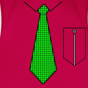 Green tie with pocket Toppe - Dame premium T-shirt
