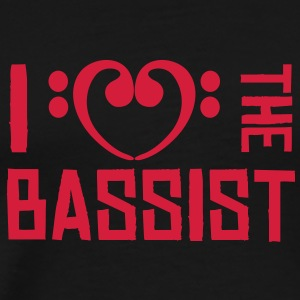 I love the Bassist T-shirts - Mannen Premium T-shirt