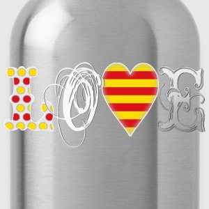 Love Catalonia White T-Shirts - Trinkflasche