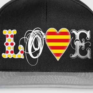 Love Catalonia White T-Shirts - Snapback Cap