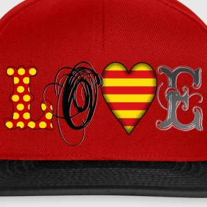 Love Catalonia Black T-Shirts - Snapback Cap