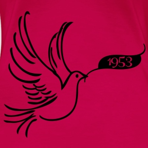 Peace dove with year 1953 Tops - Women's Premium T-Shirt