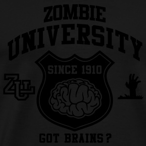 Zombie University Topper - Premium T-skjorte for menn
