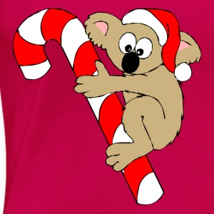 Bear On a Christmas Suger Candy Cane Tops - Women's Premium T-Shirt
