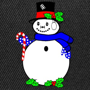 Snowman with candy suger cane Tops - Snapback Cap