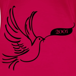 Peace dove with year 2001 Tops - Women's Premium T-Shirt