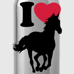 I love horses - Borraccia