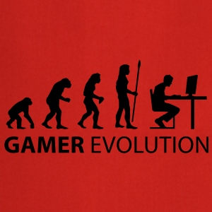 evolution_born_gamer T-shirts - Keukenschort