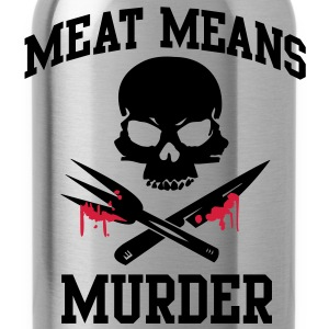 Meat means murder Tops - Drinkfles