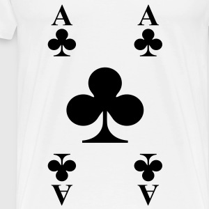 ace of clubs Tops - Men's Premium T-Shirt