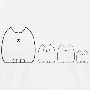 Cat and Kittens Tops - Men's Premium T-Shirt