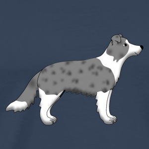 Border Collie blue merle Toppar - Premium-T-shirt herr