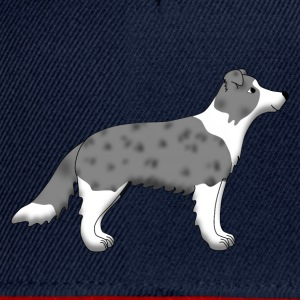 Border Collie blue merle Toppar - Snapbackkeps