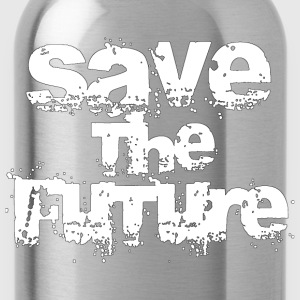 Save The Future - White Tops - Water Bottle
