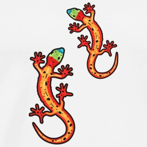 geckos multi-coloured Toppe - Herre premium T-shirt