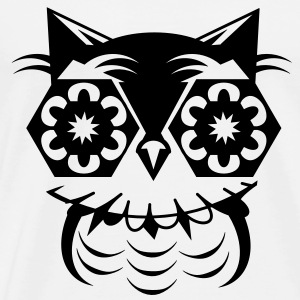 A geometric owl Tops - Men's Premium T-Shirt