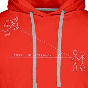 Angle of Approach (Pink) Tops - Men's Premium Hoodie
