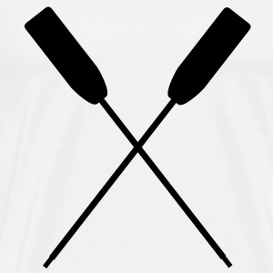 Rowing canoe paddles crossed Dragon Boat Paddling Tops - Men's Premium T-Shirt