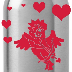 Cupid with Hearts Bow and Arrow T-Shirts - Water Bottle