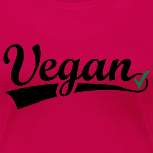 vegan vegetarian animal Welfare Go veggie Go green Tops - Vrouwen Premium T-shirt