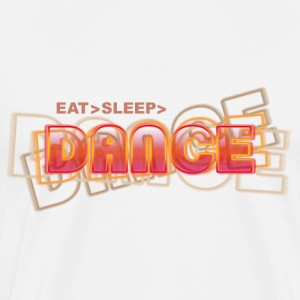 eat sleep dance | Tanzshirts Tops - Premium T-skjorte for menn