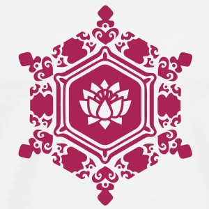 water crystal love with Lotus / Masaru Emoto Toppar - Premium-T-shirt herr