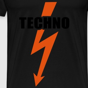 Techno musik  Bass Beats Drums Hardstyle Toppe - Herre premium T-shirt