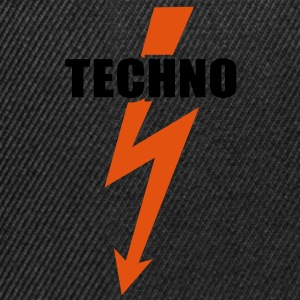 Techno musica Flash Basso Batteria Beats Hardstyle Top - Snapback Cap