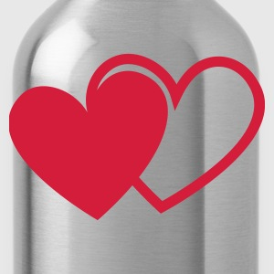 loving hearts Valentine's Day love I love you hear T-Shirts - Water Bottle