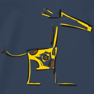Extra cool giraffe with sunglasses Tops - Men's Premium T-Shirt