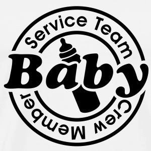 Service Team Baby - Crew Member. 24 timer catering Toppe - Herre premium T-shirt