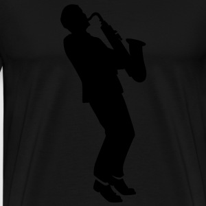 saxophone player Tee shirts - T-shirt Premium Homme