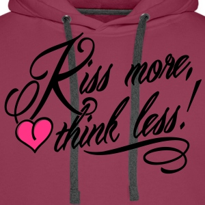 Kiss more, think less! Tops - Mannen Premium hoodie