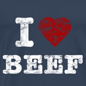 I Love BEEF vintage light Tops - Men's Premium T-Shirt