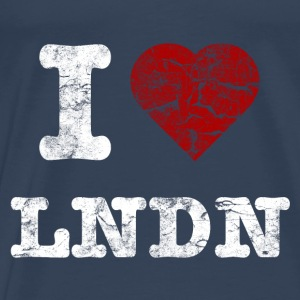 I Love LoNDoN vintage light Toppe - Herre premium T-shirt